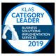 KLAS Category Leader Business Solutions Implementation Services 2019