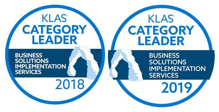 KLAS Category Leader Business Solutions Implementation Services 2018 2019 ROI