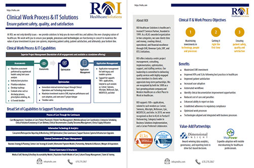 Clinical Services Brochure