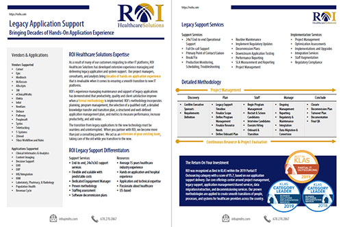 Legacy Application Support Brochure