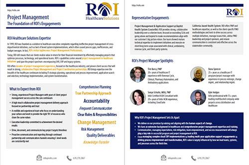 Project Management Brochure