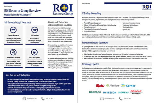 ROI Resource Group Brochure