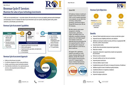 ROI Revenue Cycle Brochure