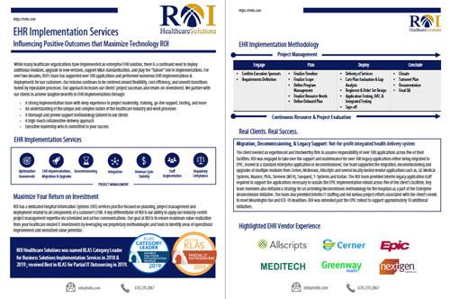 EHR Implementation Brochure Thumbnail