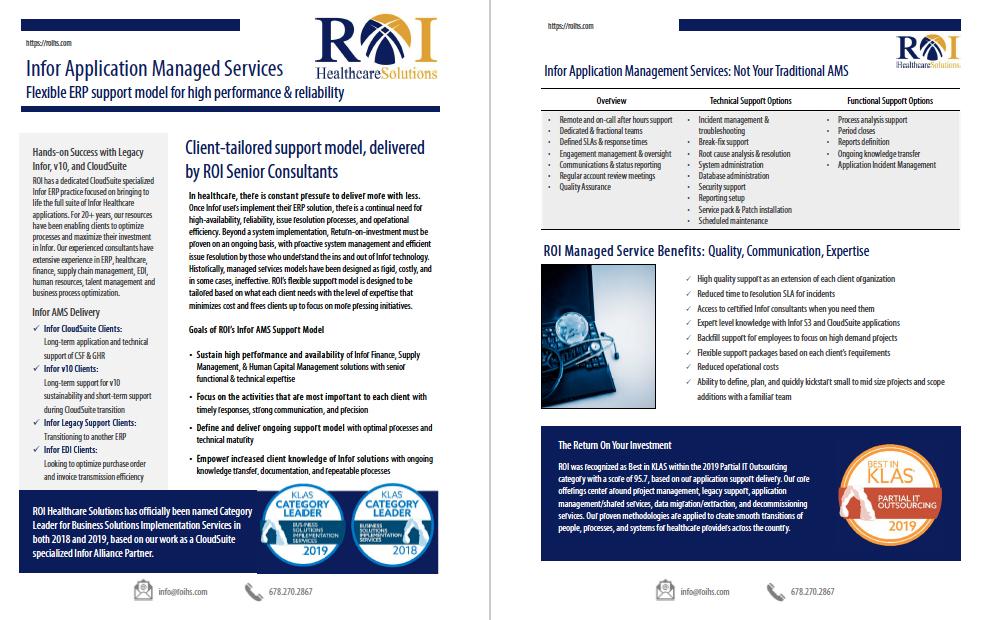 Infor AMS Brochure