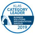 2019 KLAS Category Leader Business Solutions Implementation Services ROI